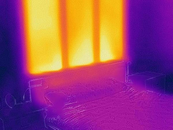 Warmte van Gyproc ActiveWarmth thermografisch in beeld gebracht